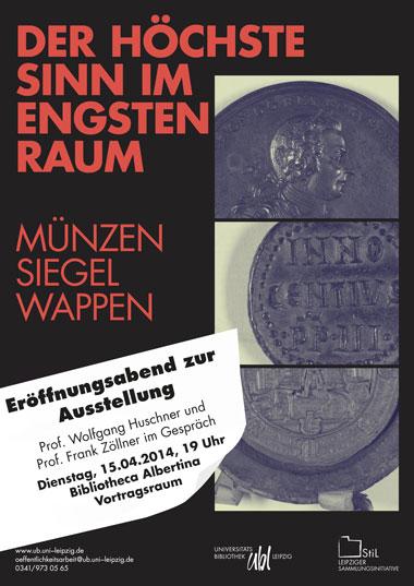 """Poster zur Ausstellung """"Der Höchste Sinn im engsten Raum"""" (2014)"""