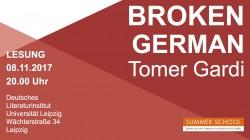 """Follow-Up zur Summer School 2017 - Lesung """"Broken German"""""""