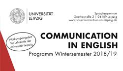 Communication in English: Neues Workshopprogramm für das Wintersemester 2018/19