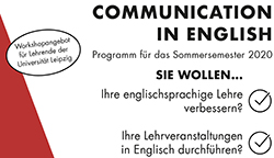 Communication in English: Neues Workshopprogramm für das Sommersemester 2020